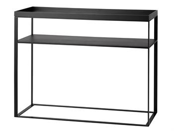 konsolbord Køb Konsolbord m. bakke og hylde 97 *40*H 84 cm Mat sort hos mojoo.dk konsolbord